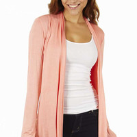 Peach Waterfall Women's Cardigan Sweater