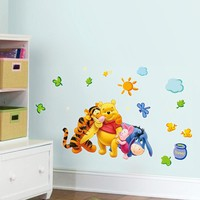 Winnie The Pooh Animals Friends For Kids Room Wall