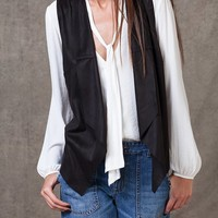 Suede-look waistcoat - JACKETS - WOMAN | Stradivarius Republic of Ireland