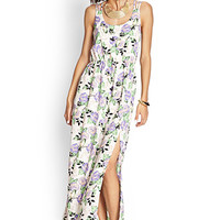 Strappy Rose Maxi Dress