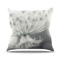 "Debbra Obertanec ""Queen"" White Flower Outdoor Throw Pillow"