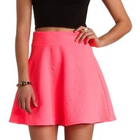 NEON GEO-QUILTED SKATER SKIRT