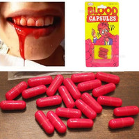 Halloween Fake Blood Pill Capsules Pill Horror Funny Halloween Prop Gag Joke Party Set 3x = 1946564868