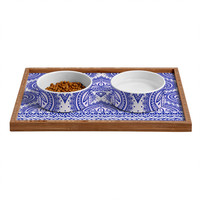 Aimee St Hill Decorative Blue Pet Bowl and Tray