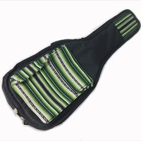 Peru Hand-Made Half-Accent Padded Ukulele Bag in Green Inca