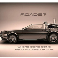 Super Cars Back To The Future  Custom Classical Stylish Nice Home Decor Retro Poster(50x76cm) Wall Sticker Free Shipping