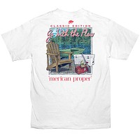 Merican Proper Southern Go With The Flow Pigment Dyed T-Shirt