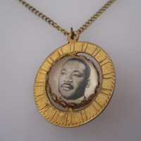 Southern Christian Leadership Conference Martin Luther King Fob Necklace