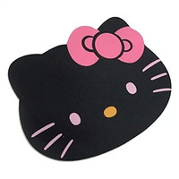 Famixyal Fashion Cartoon Hello Kitty Optical Mouse pad Personalized Computer Decoration Mouse Pad Mat Non-toxic Tasteless Mice Mat Mousepad (Black)