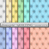 Quilted Digital Paper Pack for scrapbooking, invites, cards,web design,jewelry making, Digital Collage, Instant Download