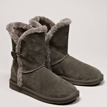 AEO Button Warm & Fuzzy Boot | American Eagle Outfitters