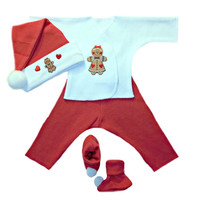 Gingerbread Baby Girl Christmas Outfit