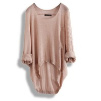 Batwing Casual Loose Asymmetric Sweater Assorted Colors