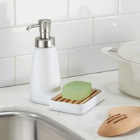 InterDesign® Benton Ceramic Soap Dispenser Pump and Sponge Caddy