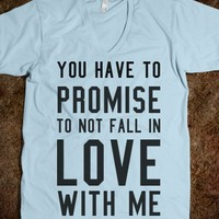 you have to promise