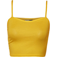 Skyla Basic Strappy Crop Top
