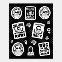 Ruth Bader Ginsburg Stickers | Stickers, Sticker Sheets and Vinyl Stickers | HUMAN