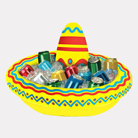 Inflatable Sombrero Cooler | Pool Floats