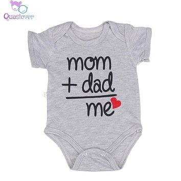Newborn Baby Bodysuit Summer Clothes Boys Girls Jumpsuit Letter Short Sleeve Cotton Clothes Infant Outfits 3-6M for Kids Gifts