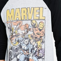 Junk Food Marvel Raglan Tee in White - Urban Outfitters