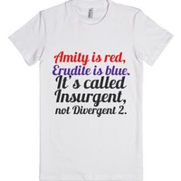 Divergent 2-Female White T-Shirt