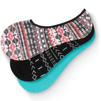 Empyre Candice Tribal 3 Pack No Show Socks