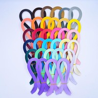 1440 stripe  solid color  Quilling Paper  5mm width 54cm Length Quilling Paper Craft DIY Decoration