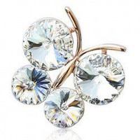 Exquisite Style Butterfly Shape and Rhinestone Inlaid Brooch