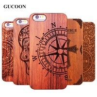 Retro Plastic+Wood Skull Case for iPhone 5 5S iPhone X SE Novetly Vintage Case Cover for iPhone 6 6S Plus 7 Plus 8 Plus 5.5inch