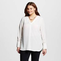 Women's Plus Size V-Neck Tunic - Who What Wear™