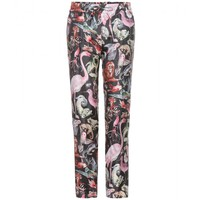valentino - cropped animal-print silk trousers