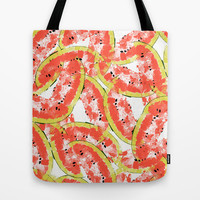 Watermeleon Slices Tote Bag by Rui Faria