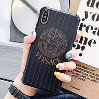 Chrome Hearts & Versace Fashion New Letter Human Head Pattern Print Women Men Protective Cover Phone Case