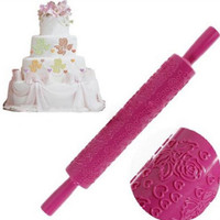 JT11 rolling Pin Fondant Cake Sugarcraft Embossed Decorating Mold Gum Paste Tool
