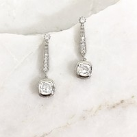At The Gala Sparkle Earrings in Silver