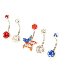 USA Belly Rings