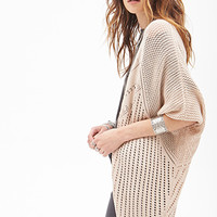 FOREVER 21 Relaxed Dolman Cardigan Tan