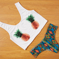 Cute Pineapple Bikini Set Swimsuit Summer New Pineapple Brazilian Bikini set -0314