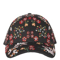 Floral Embroidered Cap - New In
