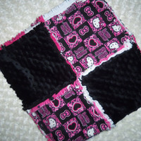 READY TO SHIP Hello Kitty Rag Quilt
