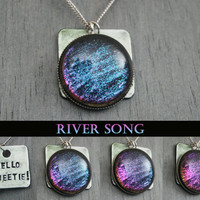 "River Song Inspired ""Hello Sweetie"" Color Shifting Necklace"