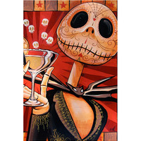 Jack Skellington Celebrates the Dead Art Print