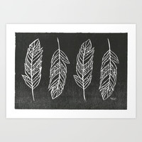 Feathers Art Print by Michaela Ramstedt