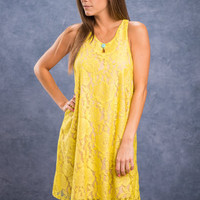 Keep Your Promises Dress, Chartreuse