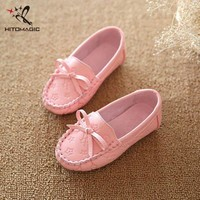 HITOMAGIC 2017 Girl Moccasins Peas Flat Shoe Children Footwear Children's Shoes For Gi