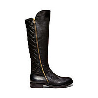 Cognac Quilted Riding Boots | Steve Madden Northsde
