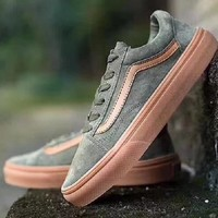 shosouvenir VANS fashion casual shoes green