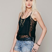 Free People Womens Outskirts Lace Cami