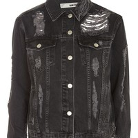 MOTO Extreme Ripped Denim Jacket - New In Fashion - New In