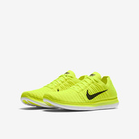 The Nike Free RN Flyknit (3.5y-7y) Big Kids' Running Shoe.